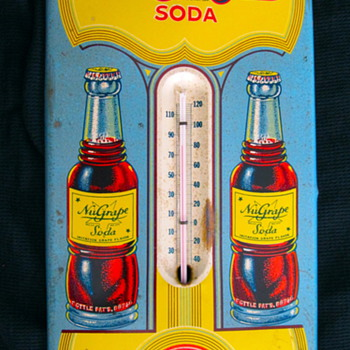 Tough NuGrape thermometer. Still works! - Advertising