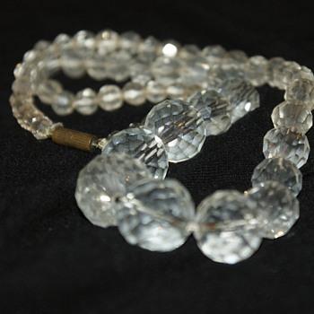 Vintage Necklace:  Possibly Rock Crystal