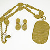 Vintage Statement Necklace Kenneth Jay Lane Egyptian Gold