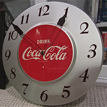Coca Cola Silver 1950s Clock