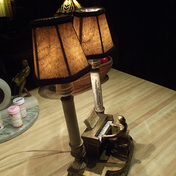 1932 J. B. Hirsch Double Beethoven Lamp - Art Deco