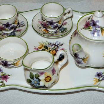 Miniature bone china set
