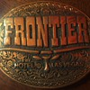 Vintage Frontier Hotel & Casino Las Vegas Belt Buckle (now Closed & Imploded)