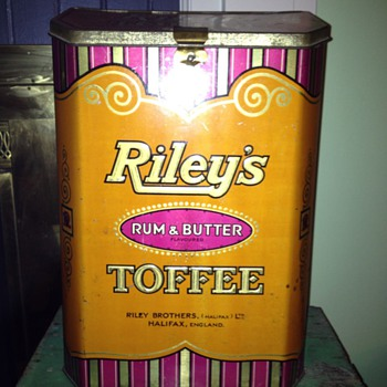 Large Riley's Toffee Tin - Advertising