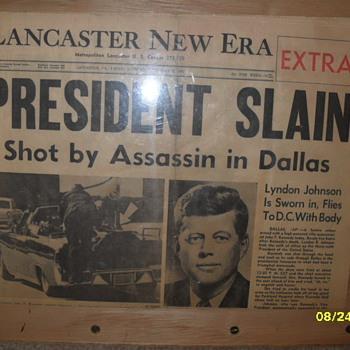 Lancaster New Era President Slain - Paper