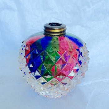 DeVilbiss Rainbow Handcut Crystal Perfume Bottle - Art Glass