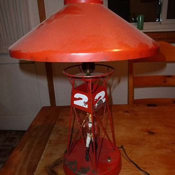 Carnival/Circus? Buoy Ringmaster Folk Art Lamp