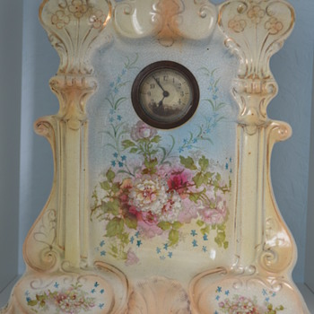 Possibly Crown Devon mantle clock