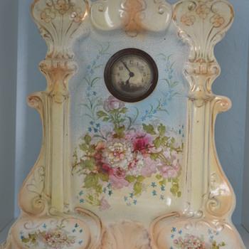 Possibly Crown Devon mantle clock - Art Pottery
