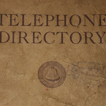 August 1935 Telephone Directory for Sonoma, Lake, and Mendocino Counties