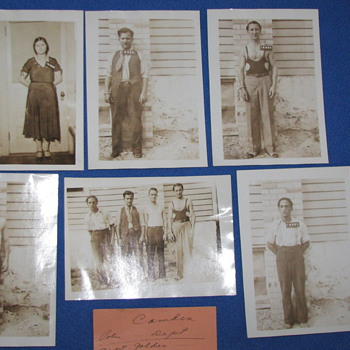 Vintage 1931 Prisoner Photos of Stick-up Mob - Photographs