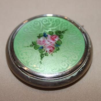 Vintage Enamel Compact - Accessories