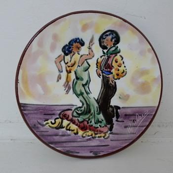 M. Valero Flamenco Dancers Plate