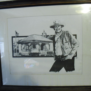 Limited John Wayne print