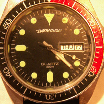 1968 Barracuda Men's Divers Watch ~ 200 Meters  - Wristwatches