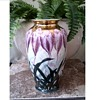 "Beautiful ""Toyo"" Japanese Kutani-Satsuma Labled 10"" Vase /Hand Painted Crocus with Gilding/Circa 20th Century"