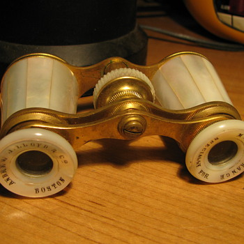 Mother of Pearl Opera Glasses & case