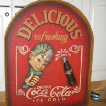 Wooden Sign Coca Cola Sprite Boy - Signs