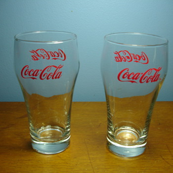 Antique Coca Cola glasses. - Coca-Cola