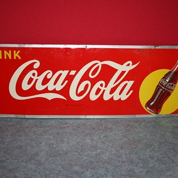 coca cola tin sign - Coca-Cola