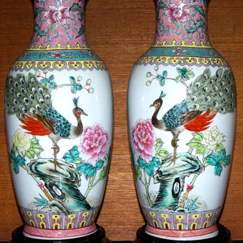 Pair of Chinese Jingdezhen Vases - Asian