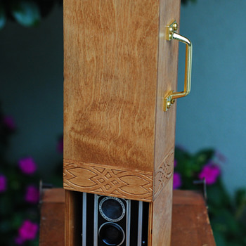 Vintage Kodak Duaflex I built into a birch TTV contraption