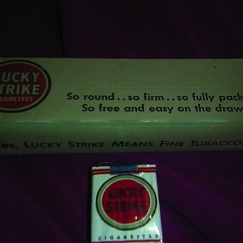 vintage cig pall mall 1940 lucky strike 1950 smoking memorbilia - Tobacciana