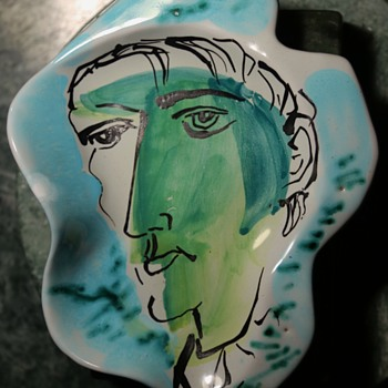 Cimelli Amorphous Plate with Portrait - Italy