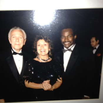 Walter Payton at a ball with my grandfather and grandmother - Football