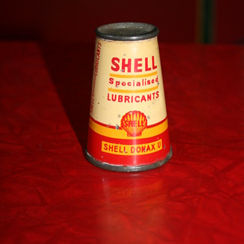 shell conical oil can - Petroliana