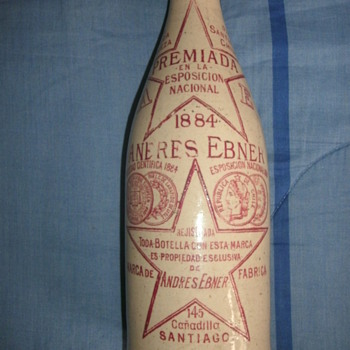 Old earthenware bottle. - Bottles