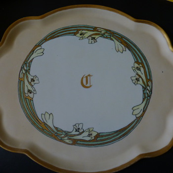 Art nouveau B&Co Limoges Platter
