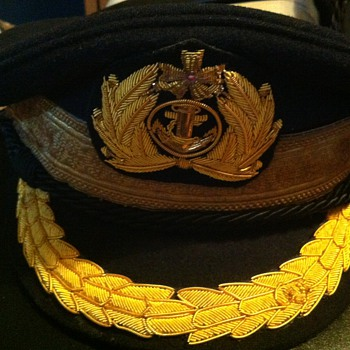 Post war IJN officer's hat