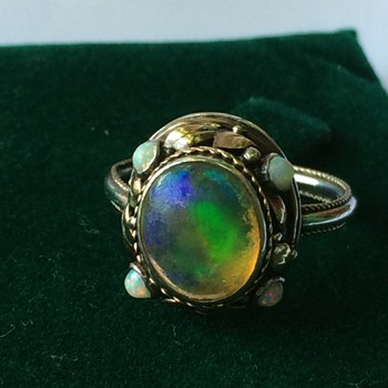 Arts & Crafts opal ring