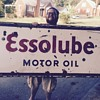 1920's EssoLube porcelain sign
