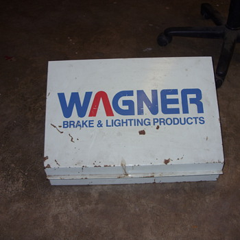 wagner brake and lighting metal display cabinet