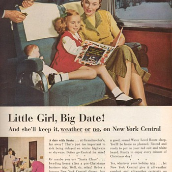 1952 - New York Central Railroad Advertisement - Advertising