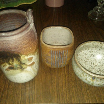 Indian Mugs and Bowl - Art Pottery