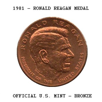 1981 - Ronald Reagan Bronze Medal
