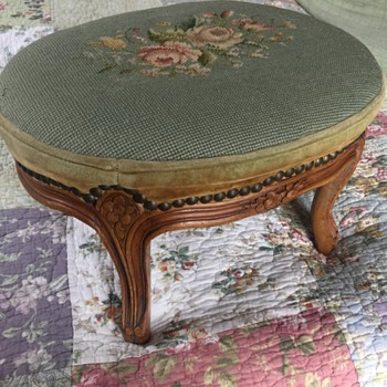 Hand Carved Footstool