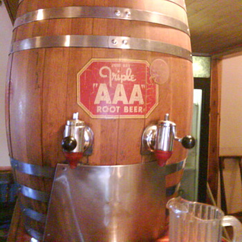 Barrel at my restaurant - Breweriana