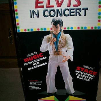 Elvis in Concert Doll , Tape Recorder and lights 21&quot; Tall - Music