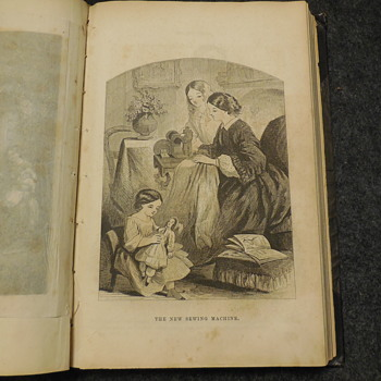 "Antique Book ""Lady's Book"" 1863 A Few More Pictures"