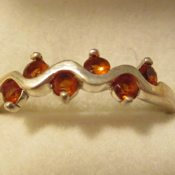 Spessartine Orange Garnet Ring in Sterling Silver - Fine Jewelry