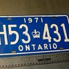 Ontario License Plates 1971,1972