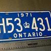 Ontario License Plates 1971,1972