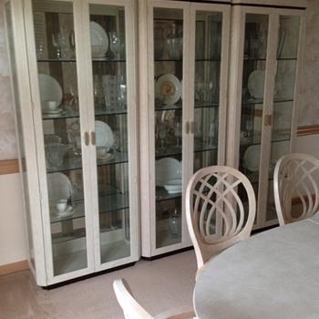 Henredon glass cabinets