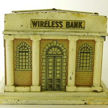 Mechanical Wireless Still Bank, Circa 1913-18