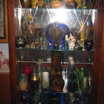 PART OF MY ART POTTERY ART GLASS COLLECTION