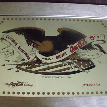 Tiffany signed Coke Mirror, 1904